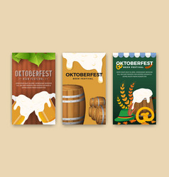 Oktoberfest beer festival advertisement web banner vector