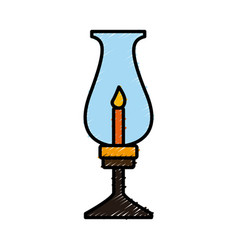 old lantern with candle vector image vector image