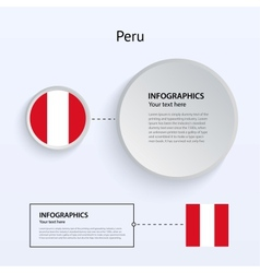 Peru Country Set of Banners vector image