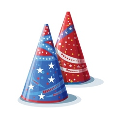 Picture hats for birthday vector image