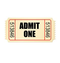 Retro style cardboard cinema ticket vector