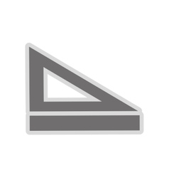 Ruler and set square icon vector