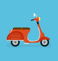 scooter motorcycle modern flat vector image