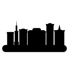 silhouettes cityscape vector image