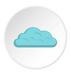 Snow cloud icon circle vector