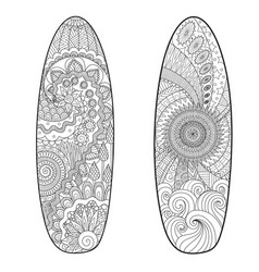 two surfboards vector image vector image
