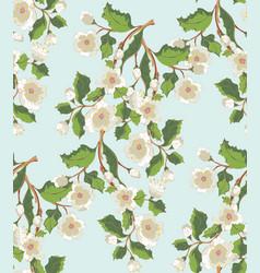 White blossom ornament vector