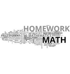 Why do math homework text word cloud concept vector