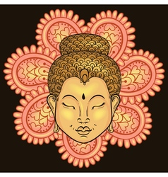 Artistically colorful portrait of buddha isolated vector
