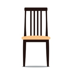 Chair with backrest vector