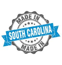 Made in south carolina round seal vector