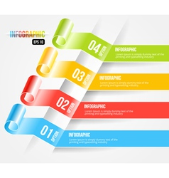 Modern Origami style Infographic and Options Banne vector image