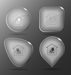 Nursing home glass buttons vector