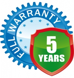 Warranty glossy icon vector