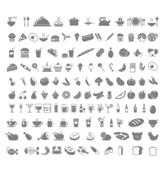 Food and beverages icons vector