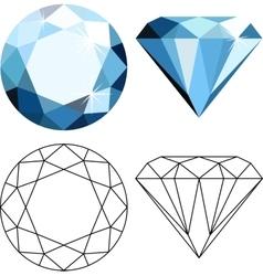 Flat style diamonds vector
