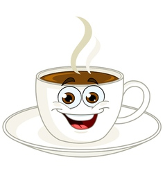 Coffee cup cartoon vector