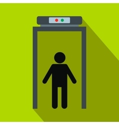 Metal detector flat icon vector