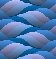 Background of abstract curled blue waves vector
