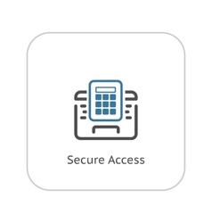Secured access icon flat design vector