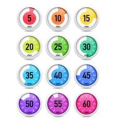 Set of timer icon set vector