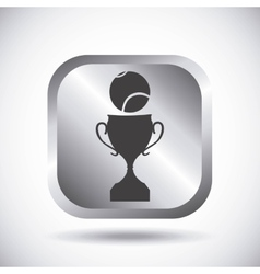 Ball and trophy icon tennis design vector