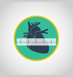an electrocardiogram logo icon design vector image vector image