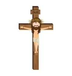 Avatar crucifixion of jesus christ vector