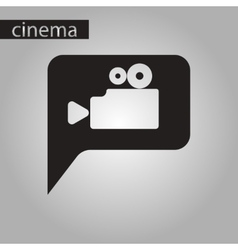 black and white style icon cinema camera vector image vector image