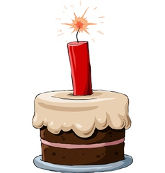 cake with dynamite vector image