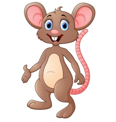 Cute mouse cartoon presenting vector image