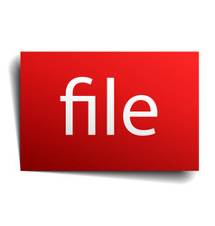 File red paper sign on white background vector
