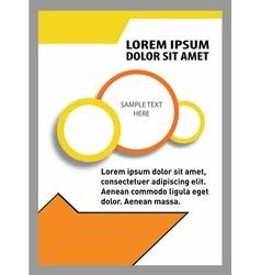 Flyer design set vector image