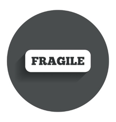 Fragile parcel icon Package delivery symbol vector image vector image