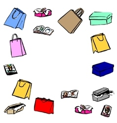 Gifts shopping bags vector image