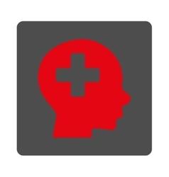Head Medicine Flat Button vector image vector image
