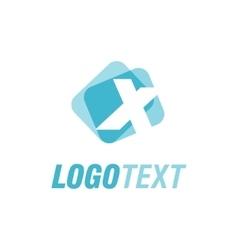 Letter X logo design vector image vector image