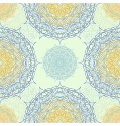 Mandala seamless pattern East motif vector image vector image