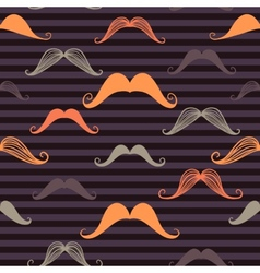 Mustache seamless pattern in vintage style vector image