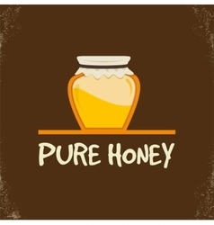 Pure honey isolated jar vector