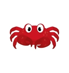Sea crab animal vector