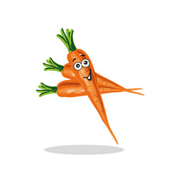 Smiling carrot cartoon character vector