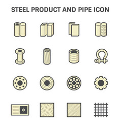 Steel pipe icon vector