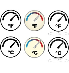 Temperature gauges vector