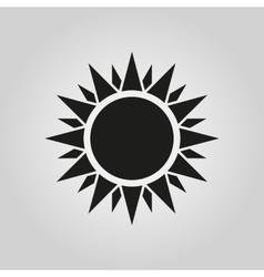 The sun icon sunrise and sunshine weather symbol vector