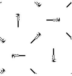 Vernier caliper pattern seamless black vector