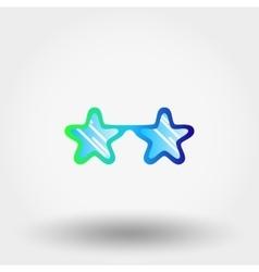 Sunglasses stars hipster fashion vector