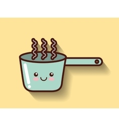 Cooking pot icon design vector
