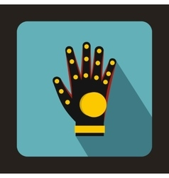 Electronic glove icon flat style vector