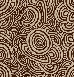 Seamless tree wooden pattern vector